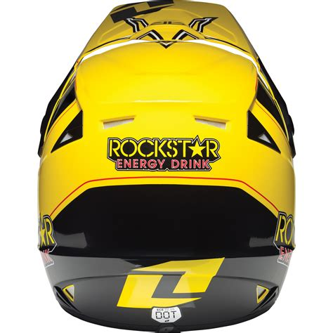 rockstar energy motocross helmet one industries 2014 atom rockstar energy yellow motocross