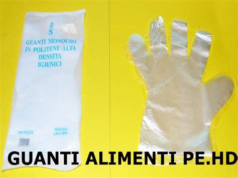 guanti per alimenti guanti per alimenti in pe hd monouso 100pz