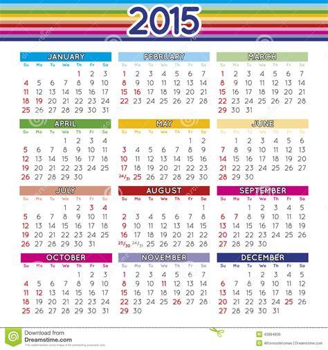 L Calendario 2015 2015 Ont Ajust 233 L Anglais De Calendrier Illustration De