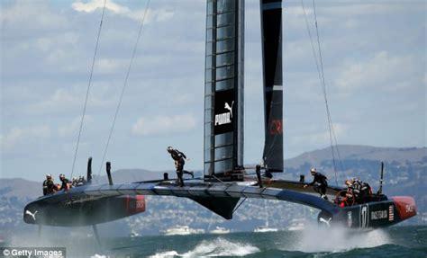 oracle racing boat flying phantom lets sailors recreate 2013 america s cup