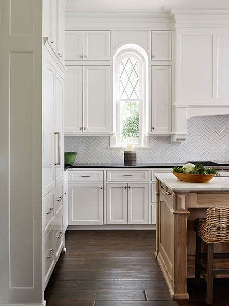 Cleaning Wood Countertops by Lovely White Traditional Kitchen Arched Leaded Glass