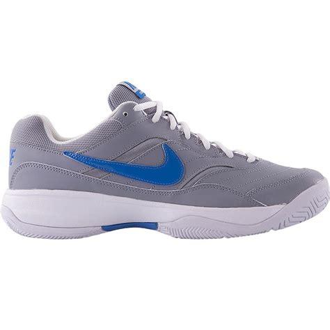 nike mens tennis shoes nike court lite s tennis shoe grey blue