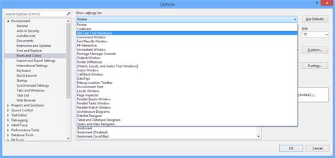 reset settings in visual studio 2013 cannot change fonts in visual studio 2013 stack overflow
