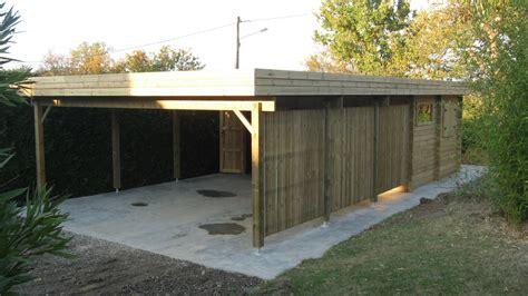 Garage En Bois Pour Voiture by Carports Bois Garages Bois Personnalis 233 S Au Sur Mesure
