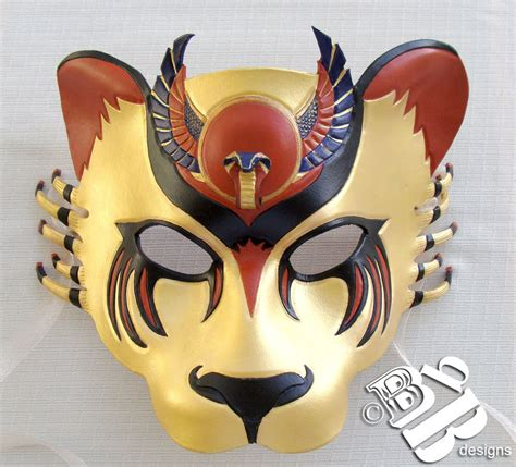 egyptian warrior goddess sekhmet lioness leather mask
