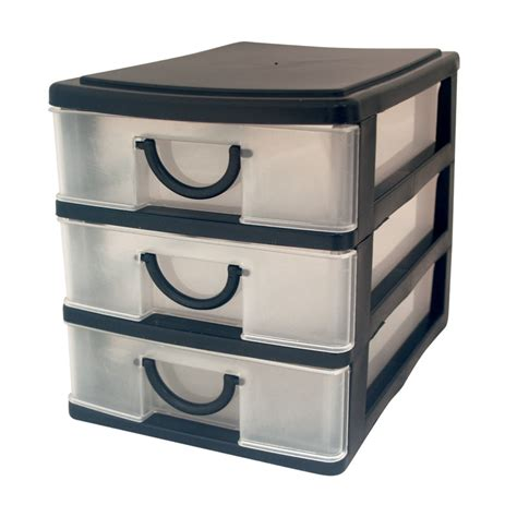Small 3 Drawer Organizer by 3 Drawer Mini Storage Trays Small Tiny Office Desk