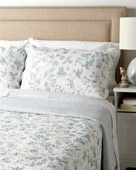 Toile Quilts And Comforters by Brighton Blue Toile Quilt By Williamsburg