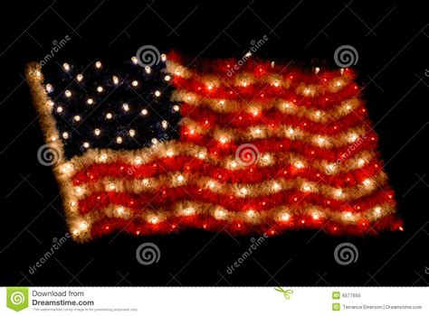 america christmas light set up american flag as lights stock image image 6577655
