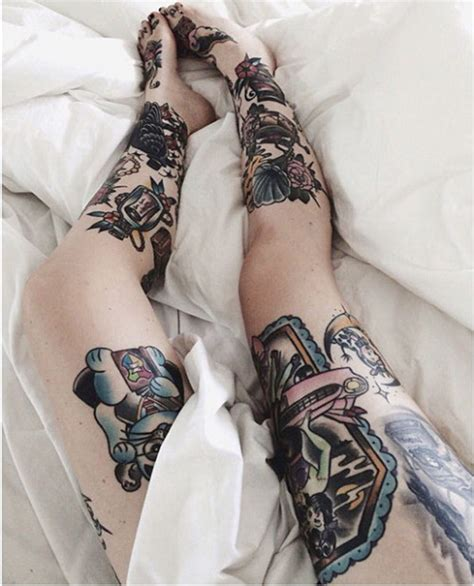 hot tattooed girl 99 attractive leg designs for