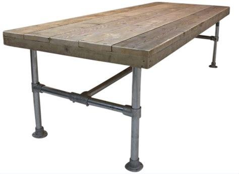 tafel oud maken doe het zelf bouwpakket tafel met steigerbuis van oud of