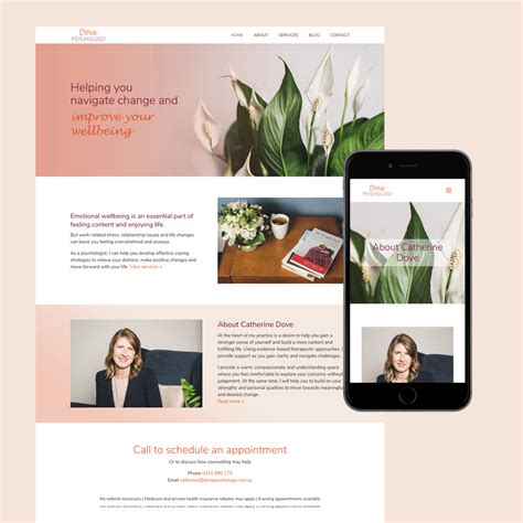 Dove Psychology Web Design Resonant Imagery Psychology Portfolio Templates