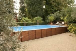 piscine rectangulaire bois piscine hors sol bois id 233 es et conseils pour votre jardin