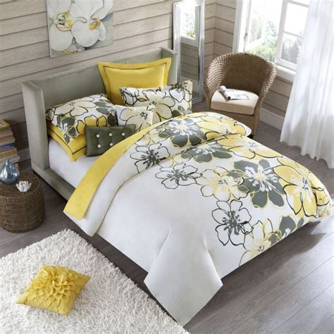 yellow queen comforter sets allison full queen size 4 piece yellow polyester comforter
