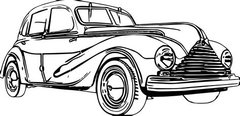 coloring page of old car antique car coloring pages