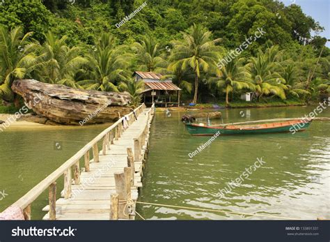 village jetty stock photo image 64063688 wooden jetty at local village ream national park