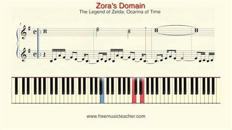 tutorial piano zelda how to play piano the legend of zelda quot zora s domain