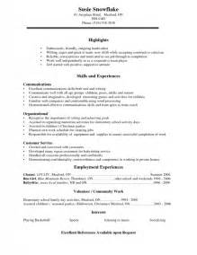 High School Student Resume Template Microsoft Word by Resume Exles For Highschool Students Sles Of Resumes