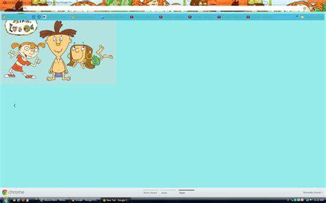 chrome themes cartoons google chrome images mike lu og theme hd wallpaper and