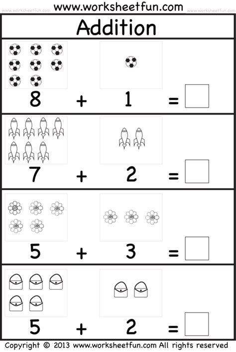 Beginners Math Worksheets by Coloring Pages Kindergarten Picture Addition Beginner