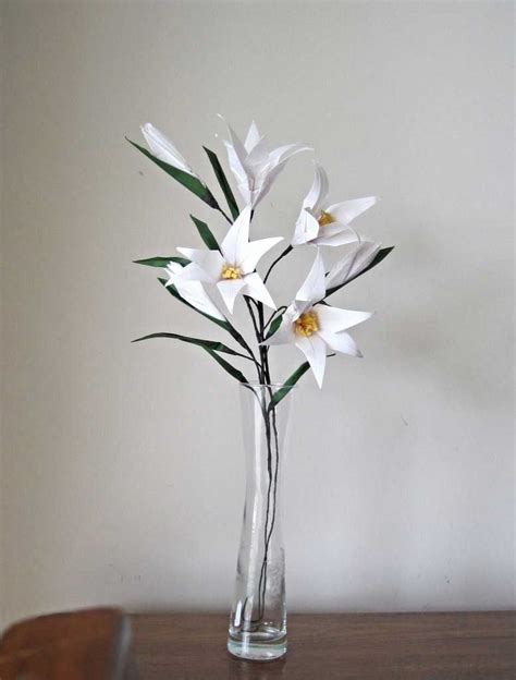 How To Make Paper Easter Lilies - easter origami flower bouquet graceincrease custom