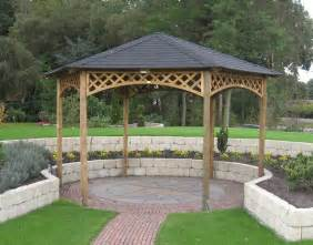 Garden Pergolas For Sale by Large Hexagonal Wooden Gazebo Buy Online Gazebo Direct