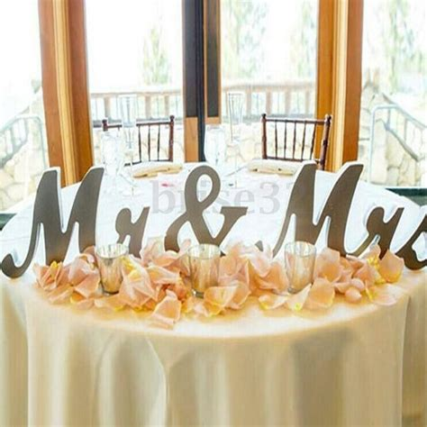 Mr & Mrs Shining Free Standing Letter Sign Table Large