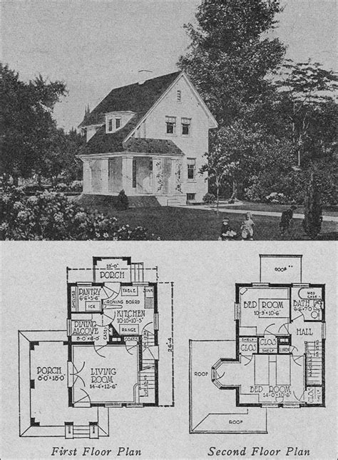 small retro house plans 1923 books of 1000 homes olsen urbain no 357 images