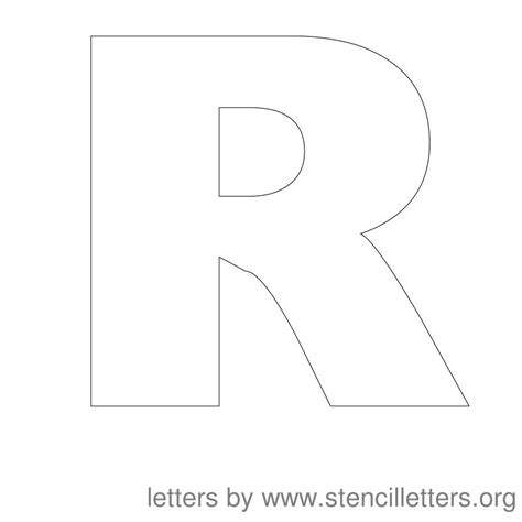 printable letter template for 6 best images of large printable block letter stencils r