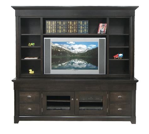 dark wide tv stand with hutch eco friendly entertainment