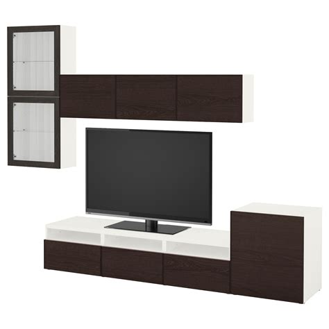 besta glass door best 197 tv storage combination glass doors white sindvik