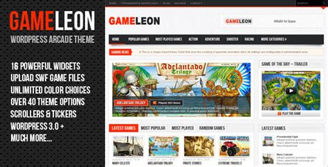 gameleon wordpress themeforest theme wordpress
