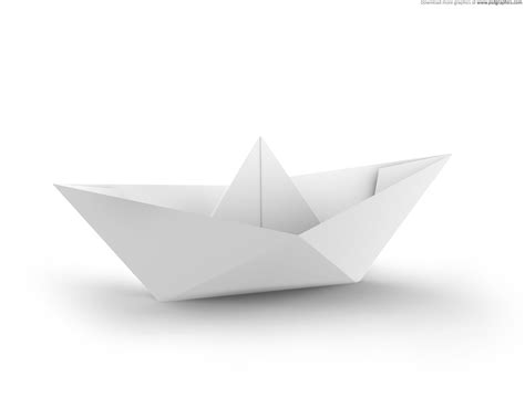 Origami Paper White - white and blue paper boats psdgraphics