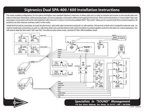 sigtronics intercom wiring diagram 34 wiring diagram