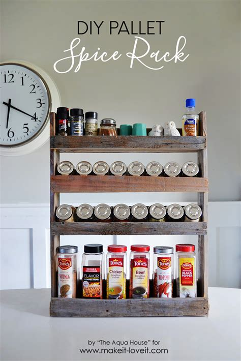diy wooden wall spice rack diy pallet spice rack make it and it