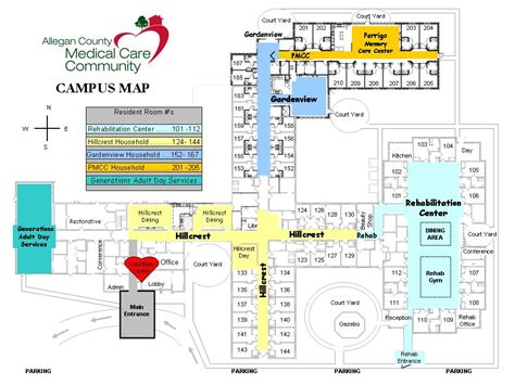 Day Spa Floor Plans floor plan and campus map of acmcc