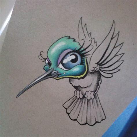 New School Hummingbird Tattoo | lovin my prismacolors today hummingbird newschool tatt