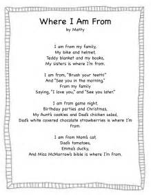 where i am from poem template forever in where i m from freebie