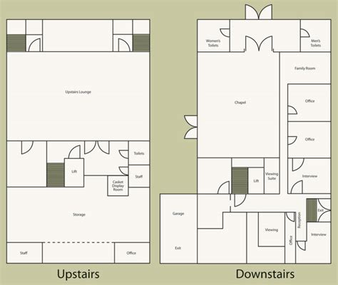 funeral home floor plan