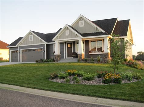 house exterior styles single story craftsman style homes craftsman style ranch home exterior craftsman style brick