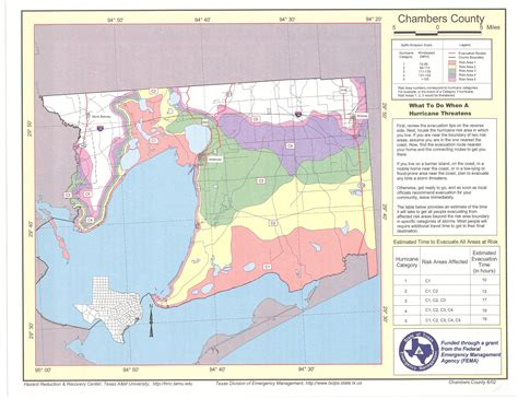 map of chambers county texas chambers county risk area map