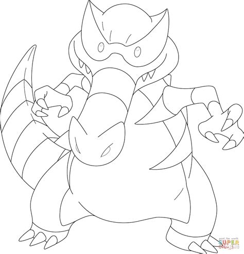 Pokemon Krookodile Free Colouring Pages | krookodile pokemon coloring page free printable coloring
