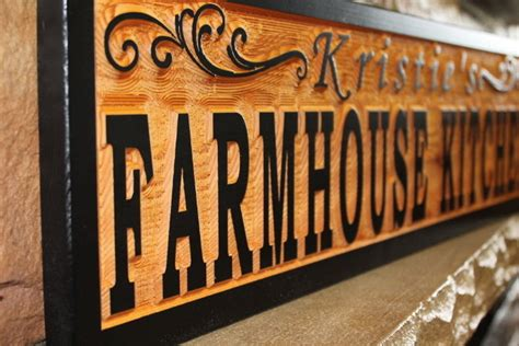 signs and plaques home decor custom farmhouse kitchen sign wood personalized rustic