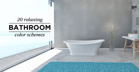 Color Schemes Bathroom by 20 Relaxing Bathroom Color Schemes Shutterfly