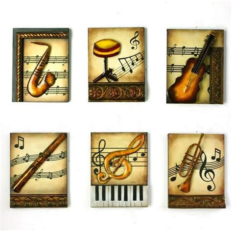 musical home decor modern home decoration metal wall 3d musical
