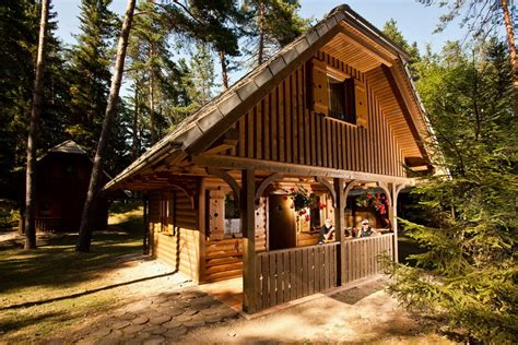 Chalet Style House by Bungalows Camping šobec Eng Lesce Bled Slovenia