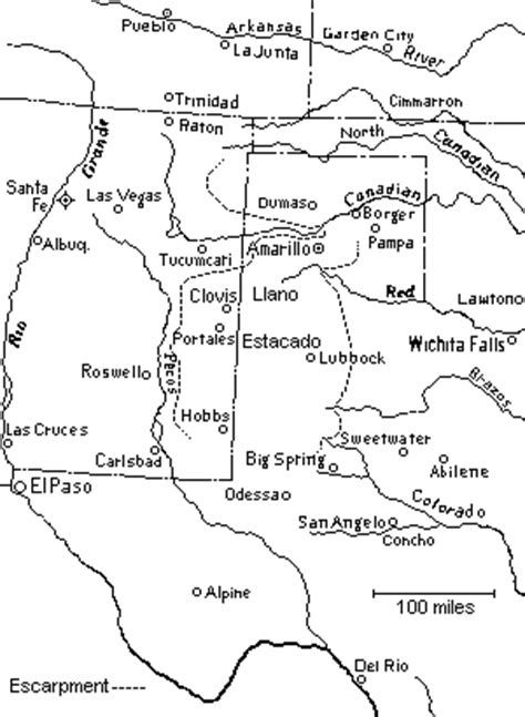caprock escarpment texas map the llano estacado