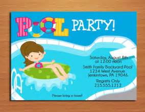 fille pool party invitation cartes imprimables bricolage