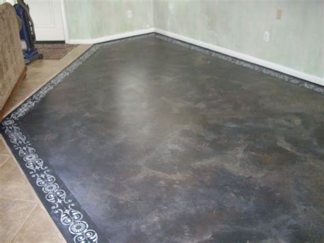 Concrete Floor Painting by Anythingology Step By Step On How To Prep