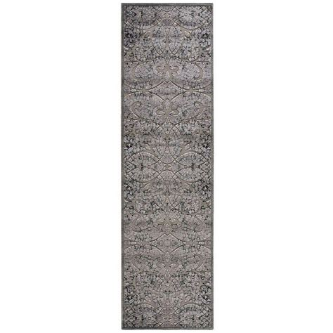 8 foot runner rug nourison graphic illusions grey 2 ft 3 in x 8 ft rug runner 131157 the home depot