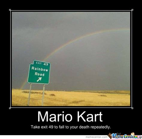 Rainbow Meme - rainbow road is real by punkupine meme center